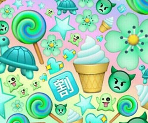 green, wallpaper, and emoji image