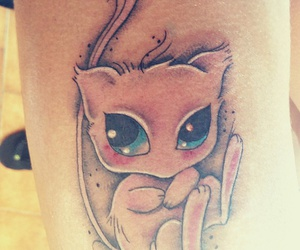 mew, tattoo, and lové image