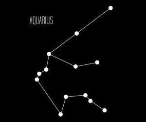 aquarius, black, and zodiac image
