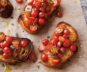 food, tomato, and bread image