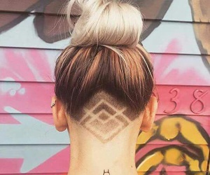 hair and tattoo image