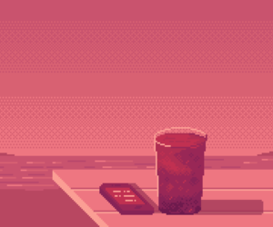 aesthetic, pixel art, and summer image