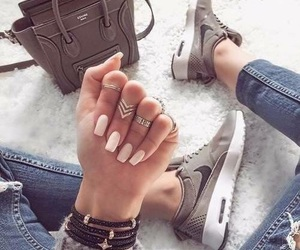 nails, fashion, and nike image