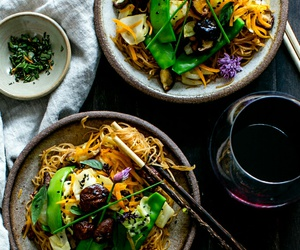 healthy, food, and noodles image
