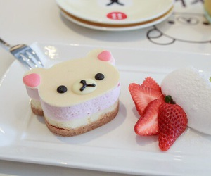 food, cake, and rilakkuma image