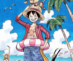 anime, luffy, and chopper image