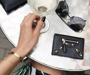 accessoires, black, and champagne image
