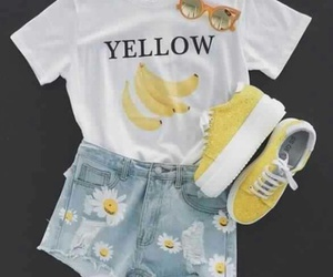 banana, casual, and flowes image