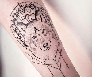 tattoo, wolf, and tatto image