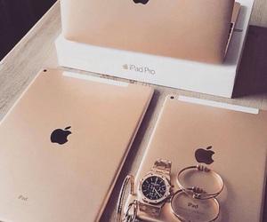 apple, ipad, and gold image