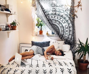 apartment, decorate, and bed image