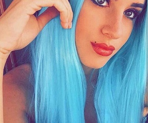 blue, hair, and 😍 image