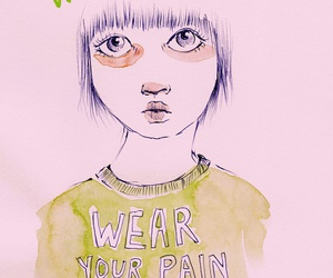 feminism, pain, and pink image