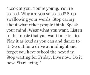 quotes, live, and young image