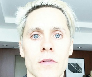 jared leto, blonde, and joker image