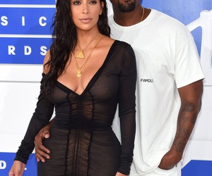 kanye west, kim kardashian, and vmas image