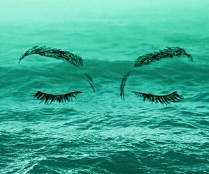 eyes, pretty, and green ocean image