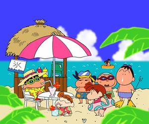 beach, cartoon, and drink image