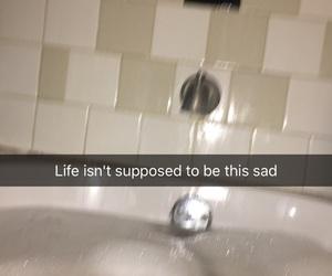 sad, tumblrquotes, and bath image