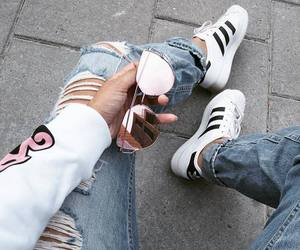 adidas, fashion, and sunglasses image