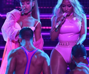 ariana grande, nicki minaj, and vmas image