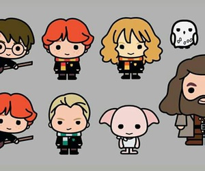 harry potter, draco malfoy, and hedwig image