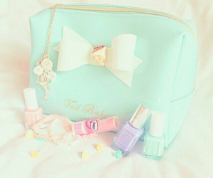 pastel, nail polish, and bow image