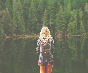 girl, nature, and lake image