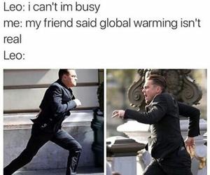 funny, leonardo dicaprio, and global warming image