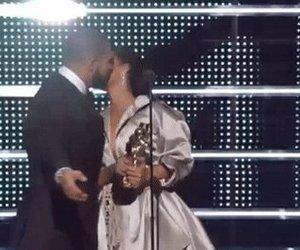 Drake, kiss, and rihanna image