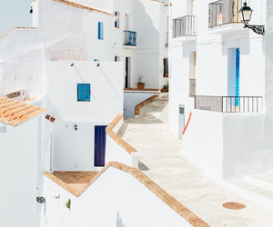 spain, travel, and white image