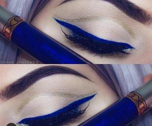 delineador, make, and azul image