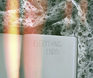 end, book, and quote image