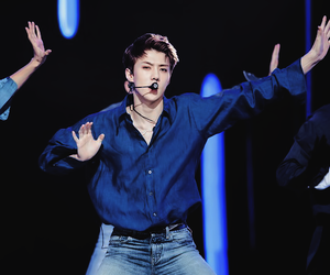blue, exo, and k-pop image
