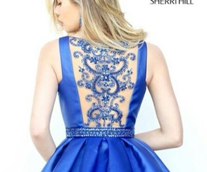 blue, vestidos, and model image