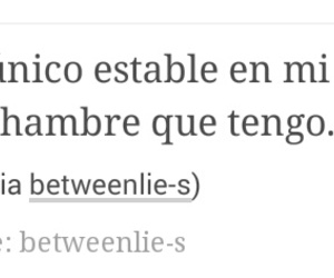 frases, tumblr, and hambre image