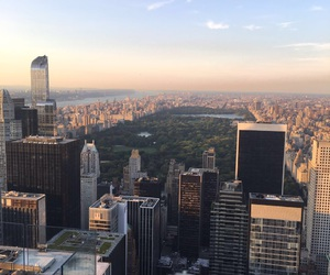 Central Park, nyc, and rockefeller center image