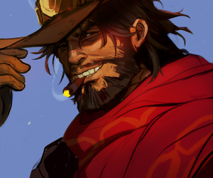 fanart, overwatch, and jesse mccree image