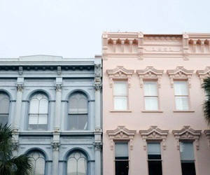 pink, blue, and building image