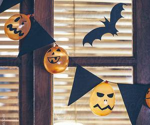 Halloween, pumpkin, and decoration image