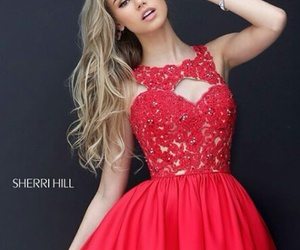 red, vestidos, and roupa image