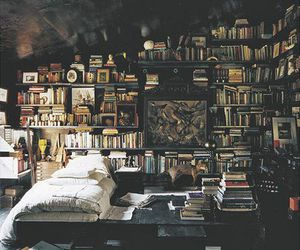 books, bedroom, and dream bedroom image