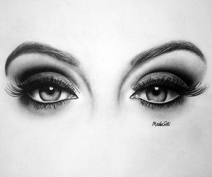 art, eyes, and draw image