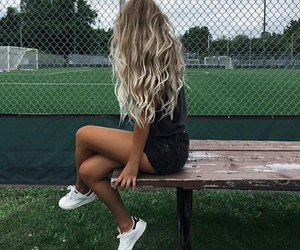 blonde, hair, and fashion image