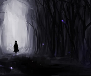 alone, creepy, and Darkness image