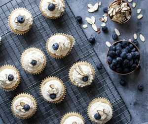 almond, cupcakes, and buttercream image