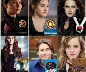 harry potter, the hunger games, and twilight image