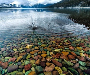 lake, nature, and stone image
