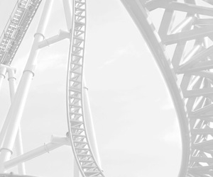 white, aesthetic, and Roller Coaster image
