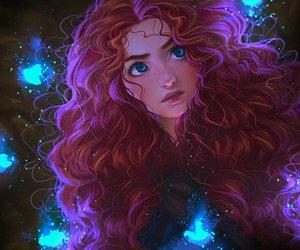 disney, merida, and princess image